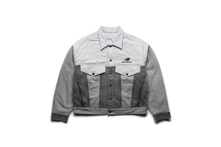 Levi S X New Balance Men S Grey Reversible Trucker Jacket Front