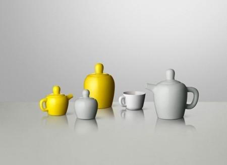 El voluminoso juego de té de Jonas Wagell