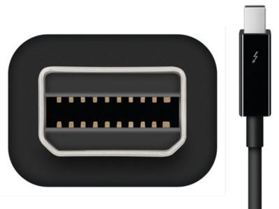 Todo Mac Pro con sus conexiones a juego: Apple empieza a vender cables Thunderbolt negros