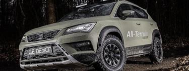 El SEAT Ateca más todoterreno es obra de JE Design: más altura, neumáticos off-road, protecciones, etc...