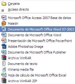 Truco: Crea documentos para Word 97/2003 desde el menú de contexto