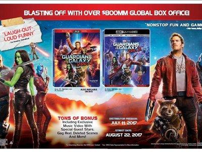 Disney dará por fin el salto al Blu-ray UHD con Guardianes de la Galaxia 2