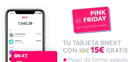 Black Friday Bnext: 10% de descuento en Amazon y 15 euros gratis al activar tu tarjeta [Finalizado]