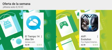 Oferta de la semana en Google Play: El Tiempo 14 días y Alien vs Predator: Evolution a 0,10 euros