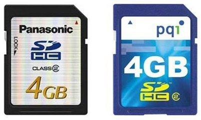 Las nuevas tarjetas flash SD 2.0