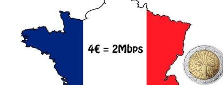 Existe una conexión de ADSL a 4€ ... en Francia.