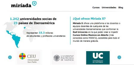 Miríada X, la plataforma de Universidades hispanoamericanas