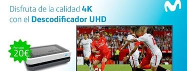 El descodificador 4K de Movistar ya está disponible para sus clientes de fibra, desde 20 euros