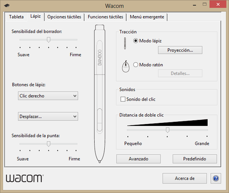 Wacom preferencias 2