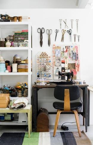 C mo organizar un rinc n de costura en casa - Como organizar mi casa ...