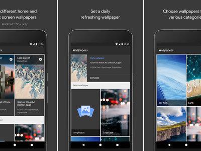 Ya disponible la nueva aplicación de fondos de pantalla de Google