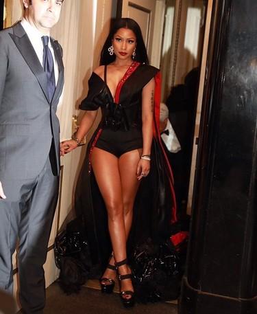 Nicki Minaj con un look de H&M en la Gala MET 2017