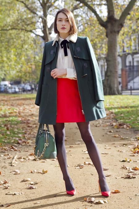 Falda rojo Look Colores