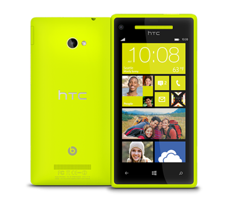 HTC Windows Phone 8 amarillo