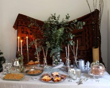 Una decoración de Navidad en una casa con sabor a vintage