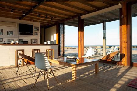 Salón casa en la playa