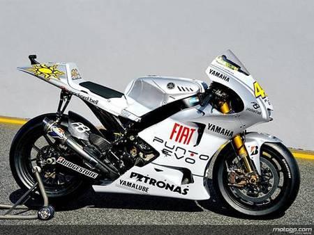 Decoración especial para las Yamaha en el GP de Portugal