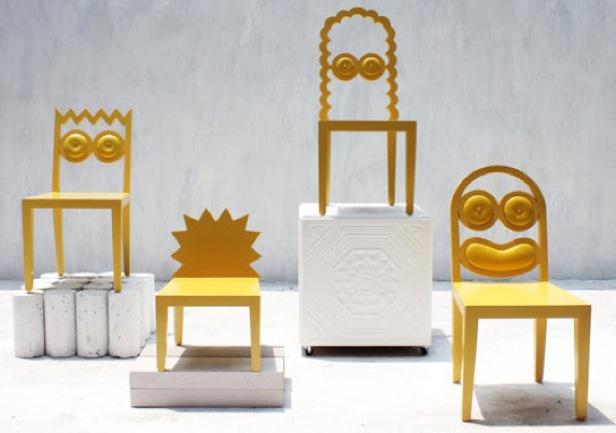 Caricaturas de los simpson convertidas en originales sillas - Sillas originales ...
