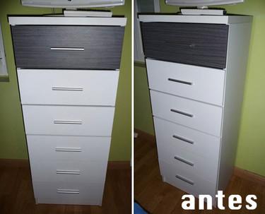 Antes y después: una cómoda transformada con telas