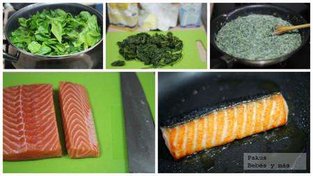 salmon-crema-espinacas-pasos