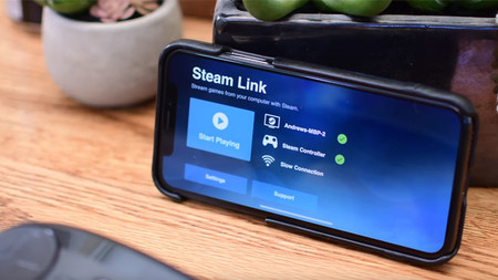 Steam Link en un iPhone X