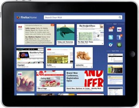 Mozilla Firefox Home para iPad