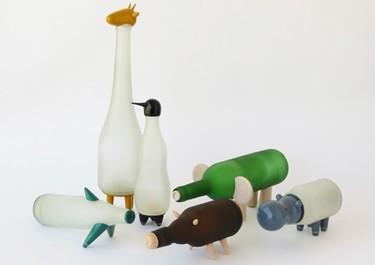 Recicladecoración: botellas que se convierten en una granja de lámparas