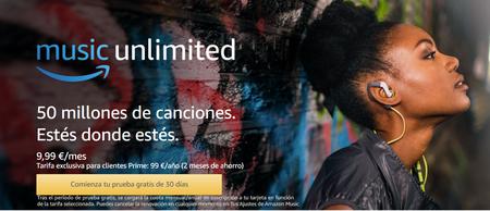 Llega Amazon Music Unlimited con 50 millones de canciones y descuento