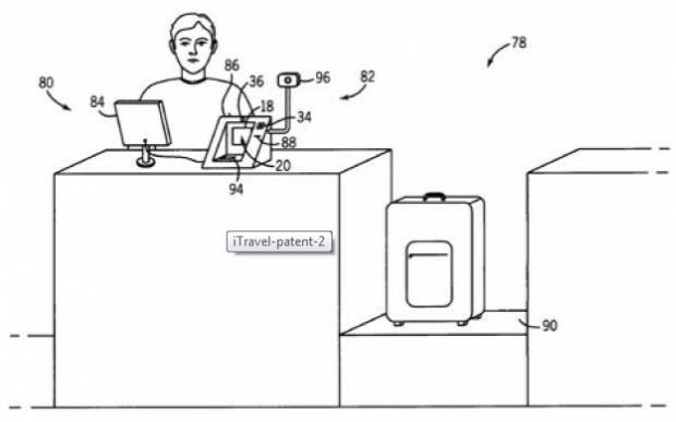 Imagen de la patente de Apple para el pago con móvil