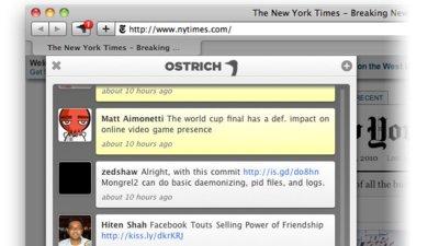 Un vistazo a Ostrich, la primera extensión de Safari para usar Twitter