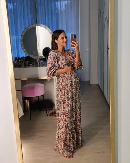 Paula Echevarria Vestido Estampado Embarazo 02