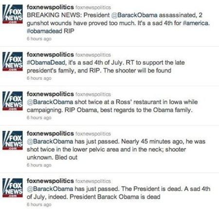 Los servicios secretos de EE.UU. siguen investigando el 'asesinato' de Obama en el twitter de la FOX