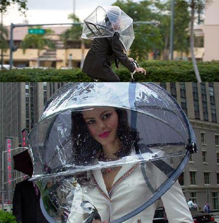 Nubrella, el paraguas manos libres
