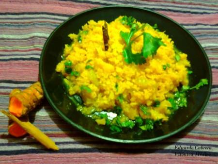 Receta saludable: Arroz de coliflor estilo Hindú