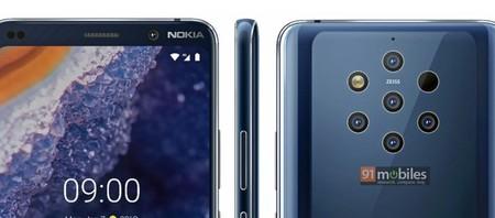 El Nokia 9 Pureview con cinco cámaras se deja ver en un render, recopilamos todos los rumores y filtraciones