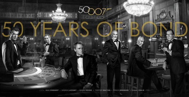 Los seis actores que han encarnado a James Bond a lo largo de 50 años