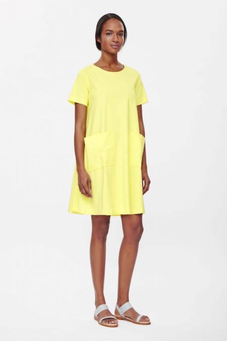 Vestido Cos Amarillo Aline