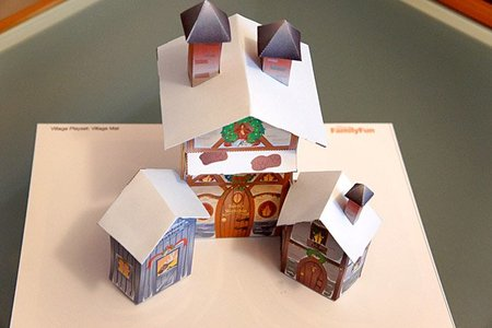 Casa de Papa Noel para imprimir y montar