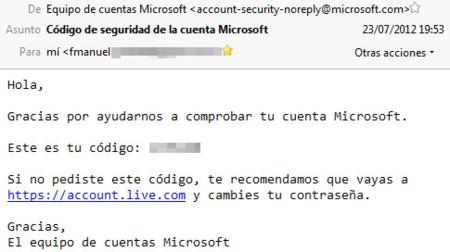Login Live, correo código acceso
