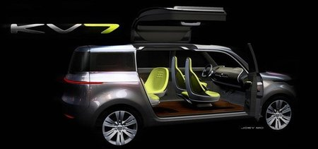 "Kia KV7 Concept, otra ""cosa rara"" para el Salón de Detroit"