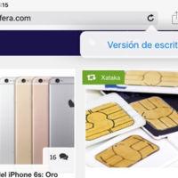 Abrir la versión de escritorio de una web en Safari para iOS 9 también será pan comido
