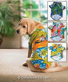 Camisas hawaianas para perros
