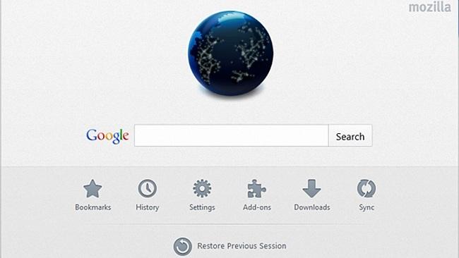Así será la nueva página de inicio de Firefox