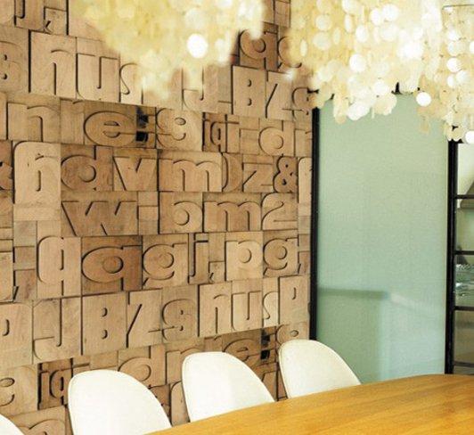 Papel de pared inspirado en la imprenta - Como empapelar paredes ...