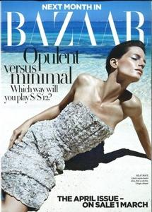 Llega la primera portada de Harper's Bazaar del mes abril: vámonos de vacaciones