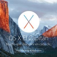 El Capitan OS X desembarca desde hoy en todos los Mac