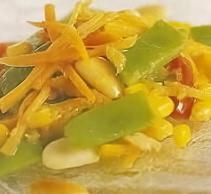 Salteado de judías con maíz