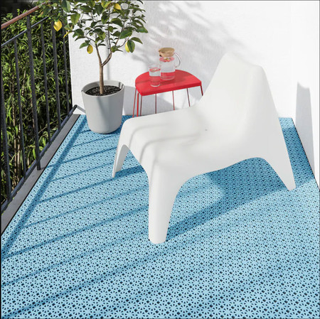 Suelo Blue Ikea De Terraza