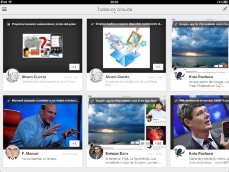 La aplicación oficial de Google+ para iOS se actualiza y llega al iPad
