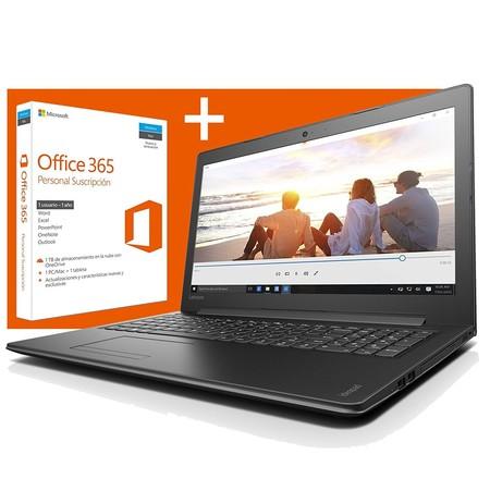 Oferta Flash: portátil Lenovo 310, con 12GB de RAM y Office 365, por 399 euros